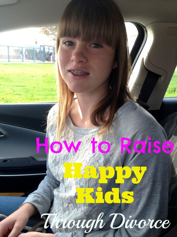 How to raise a happy kid thru divorce. Tips on getting long during and after your divorce to help your kids cope.