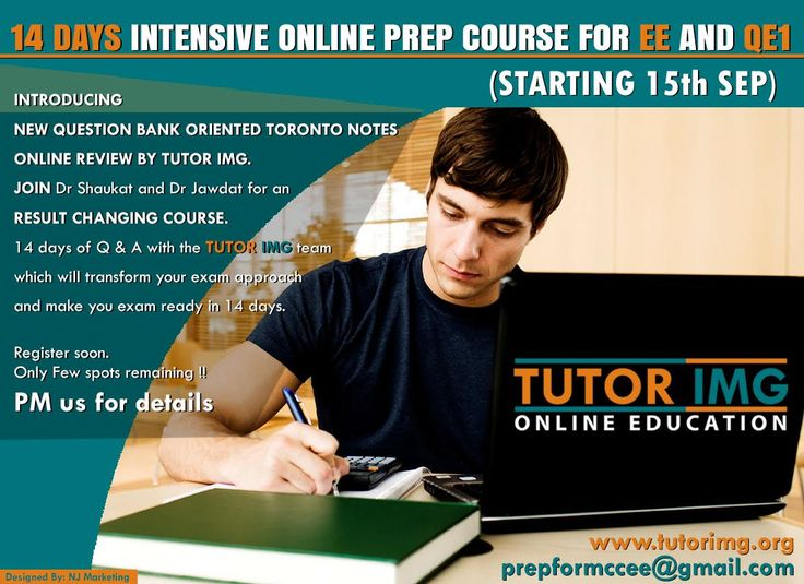 LAST 2 SPOTS REMAINING, REGISTER NOW 14 DAYS INTENSIVE ONLINE PREP COURSE FOR EE AND QE1 (STARTING 15 Th SEP) INTRODUCING NEW QUESTION BANK ORIENTED TORONTO NOTES ONLINE REVIEW BY TUTOR IMG. JOIN Dr Shaukat and Dr Jawdat for an RESULT CHANGING COURSE. 14 days of Q & A with the TUTOR IMG team which will transform your exam approach and make you exam ready in 14 days Register soon .Only Few spots remaining !!  PM us for details