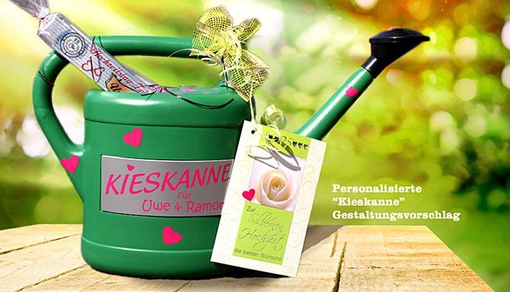 """Geldgeschenk """"Kieskanne"""" von inspiering auf DaWanda.com"""