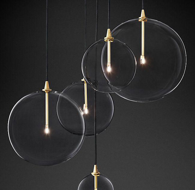 Glass Globe Mobile Cluster Chandelier In 2020 Modern Glass