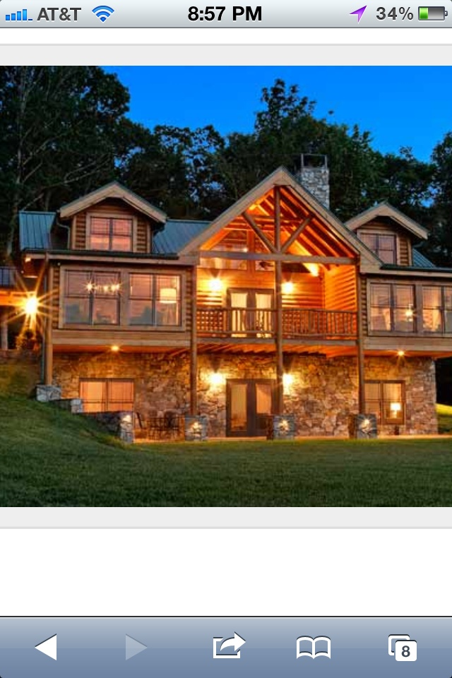 Log home My Dream House Pinterest Logs, Cabin and