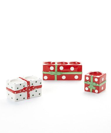 Take a look at this Present Tealight Holder Set by Design Imports on @zulily today!