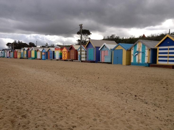 Brighton Beach-strandhuisjes