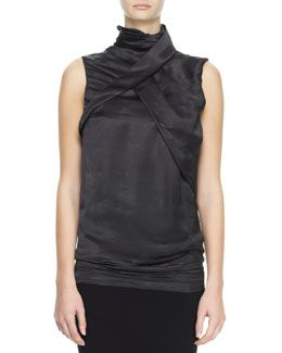 B2BTP Haider Ackermann Sleeveless High-Neck Fold Top