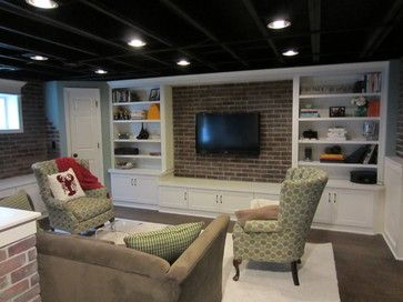 Low Basement Ceilings Design Ideas, Pictures, Remodel, and Decor