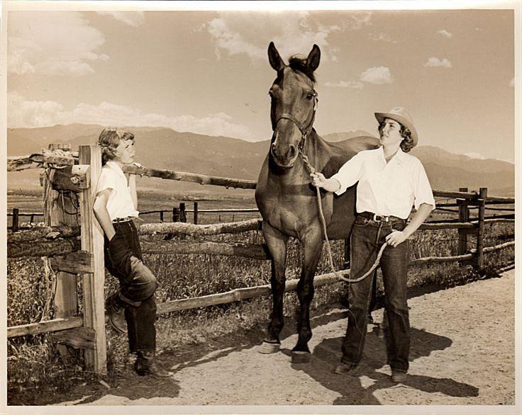 Vintage 1940s Summer Camp Photo, Horse Photograph, Cowboy Hat, Colorado Mountains, San Luis Ranch, Colorado Springs Photo, Sepia Photo by vintagebarrel on Etsy