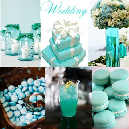 The Tiffany Blue Theme Wedding Ideas: Festa Dos 15 Verde Agua E Azul - Pesquisa Google