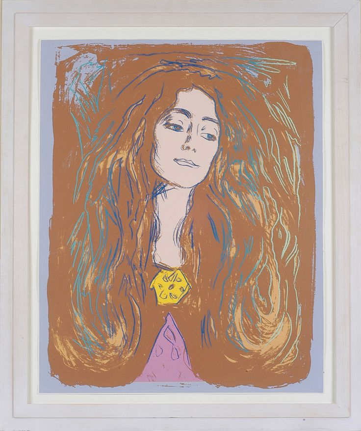 "Eva Mudocci by Andy Warhol. ""After Munch serie"""
