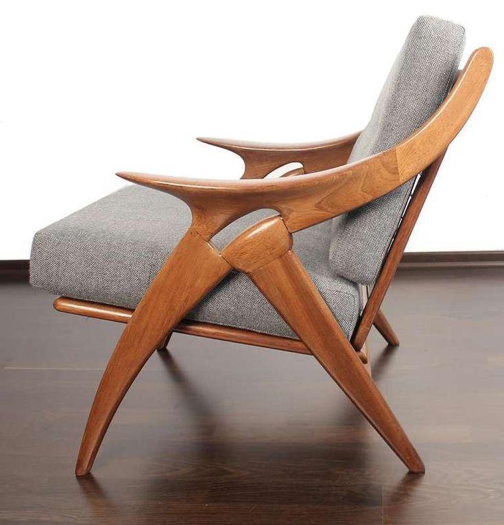 1950s De Ster Gelderland Danish Lounge Chair