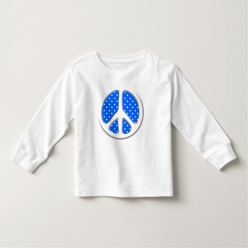Peace Sign Party in Blue Toddler T-shirt