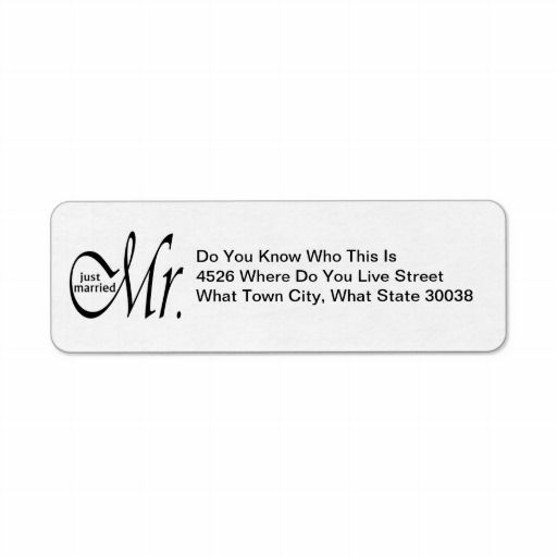 Best 17 Just Married Return Address Labels images on Pinterest - Address Label