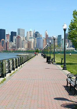 Visit Liberty State Park, an expansive green space located on the shores of the Hudson River.  It has breathtaking views of the New York Harbor and is an important place for wildlife in this urban environment. #traveltips #NYC #StatueofLiberty