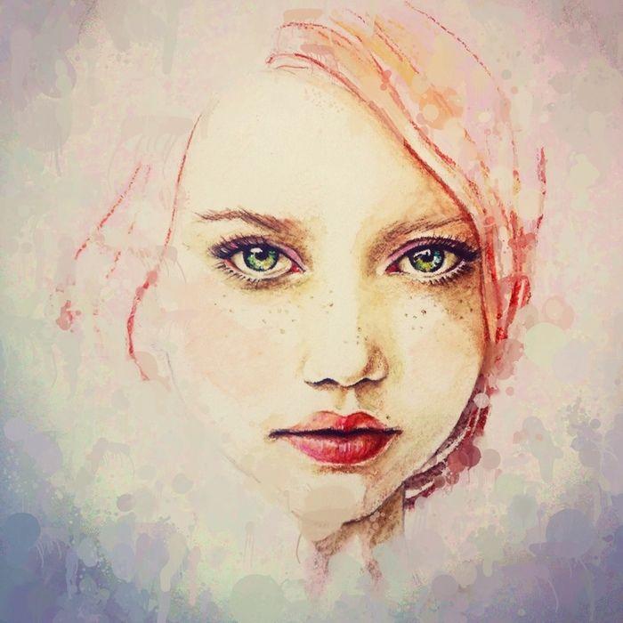 Просмотреть иллюстрацию Зеленые глаза из сообщества русскоязычных художников автора Lin.E в стилях: Классика, нарисованная техниками: Смешанная техника.