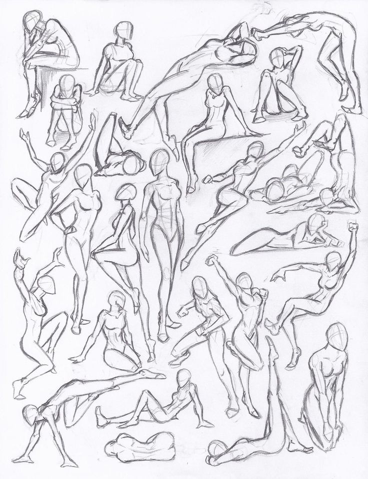 Figure drawing studies - poses by *NeoLupeTrooper9893 on deviantART