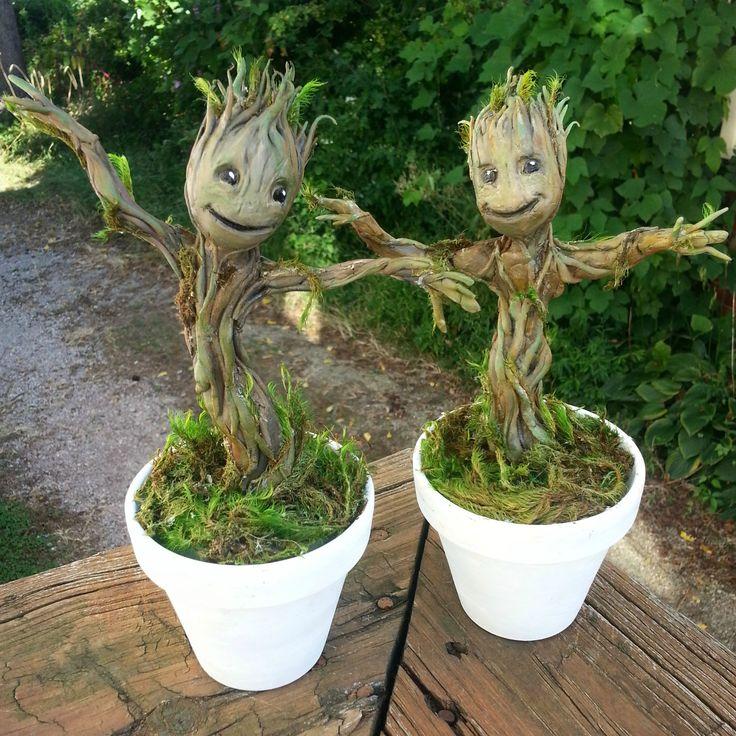 Groot Sculptures I Made   Plantes de décor de maison, Jardins et Fleurs étranges