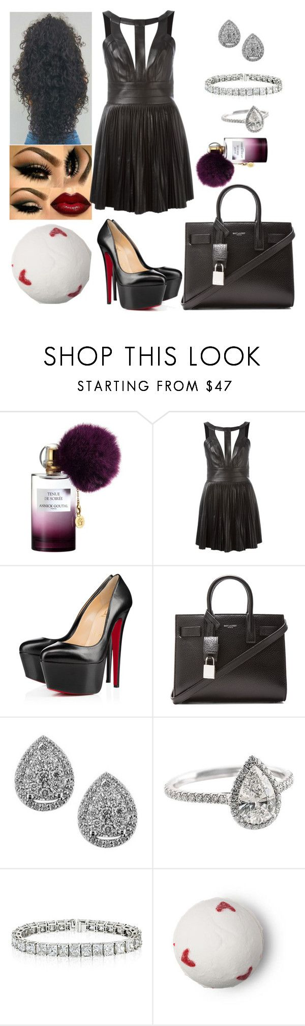 """""""Saturday Lottery: September 2"""" by allison-syko ❤ liked on Polyvore featuring Annick Goutal, Dsquared2, Christian Louboutin, Yves Saint Laurent and EWA"""