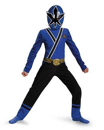 Boys Classic Blue Power Ranger Samurai Costume