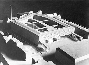 Reichsbank Berlin: Modell fuer den Neubau 1933