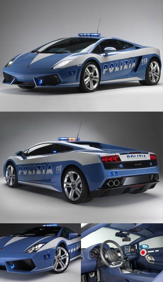 Lamborghini Police Car Italy - Lamborghini Gallardo LP560-4 Polizia | Be Sportier