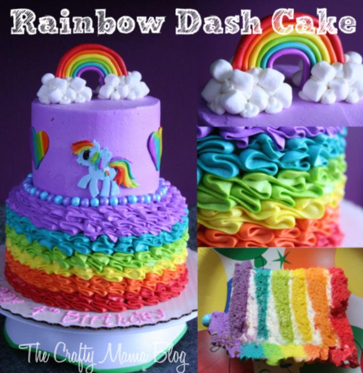 My Little Pony Cakes, Part One: Rainbow Dash | :) Crafty Mama