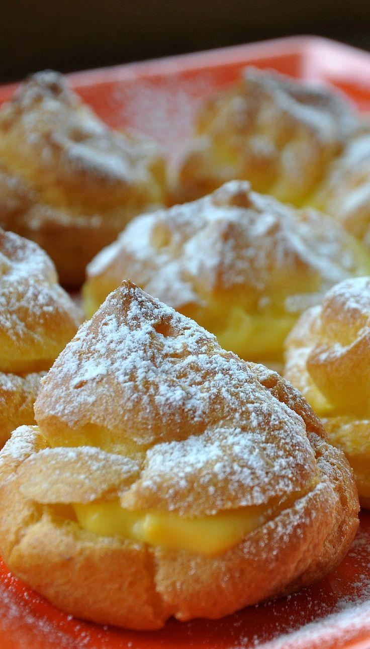 Na háji: Profiteroles plnené žĺtkovo - vanilkovým krémom