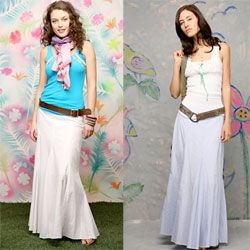 Also craving these long seamed skirts to run around in for this hot summer weather from free people...