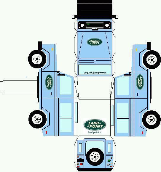 Land Rover 90 Cut Out.