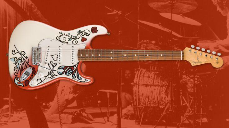 #ICYMI — Introducing the Jimi Hendrix Monterey Stratocaster        #jimihendrix #hendrix #guitar #montereypop #guitarist #blues #60s #signature #art #artwork #rose #fire #legend