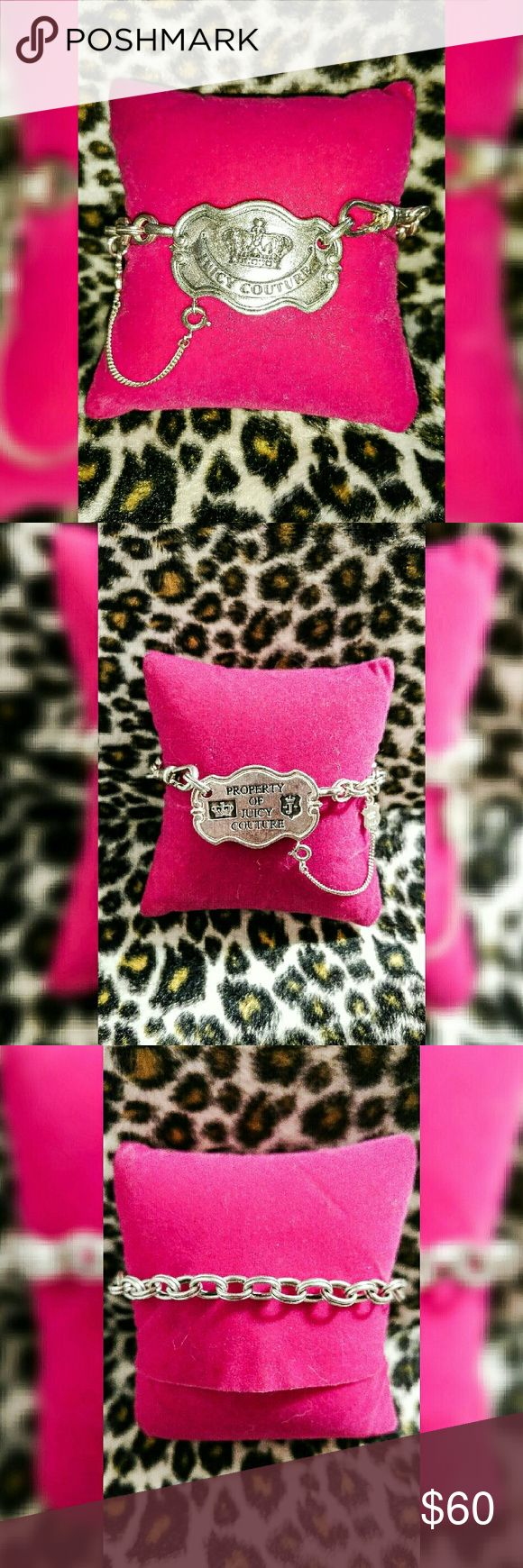 "925 Sterling Silver JC Bracelet 925 Silver Juicy Couture Bracelet  Front Side Of ID Plate Says   ""Juicy Couture""  Back Of Plate Says   ""Property Of Juicy Couture""  Was Just Cleaned & Looks Fantastic!  Very Cute ~ Very Juicy!  Happy to Custom Bundle with Discount Incentives  Bundle With A Coach Backpack  Bundle With a Betsey Johnson Watch  Reasonable Offers Encouraged & Often Accepted Juicy Couture Jewelry Bracelets"