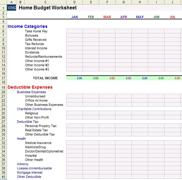 Best  Household Budget Template Ideas On   Household
