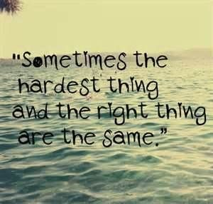 """That's all the time. """"Nothing worth having is easy to get""""..Grandma said it so it can't be anything but right."""