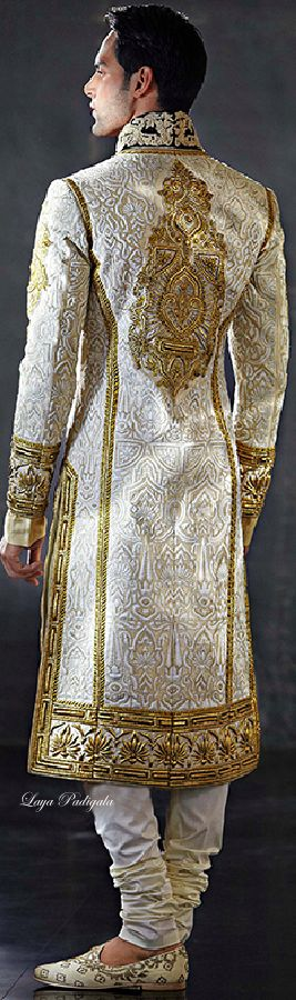 Cinderella's Prince, gold and off white, ornately decorated, inspiration, long suit
