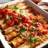 Pulled Pork Enchiladas- fun idea for Cinco de Mayo, or a Mexican fiesta party or any time!