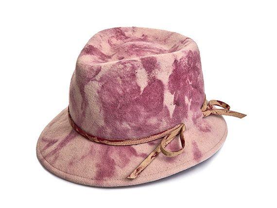 Felt Fedora Hat For Men & Women  Traxo hat by JustineHats on Etsy