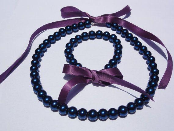 Flower girl Jewelry set.Bridesmaid Jewelry by StunningGemsJewelry