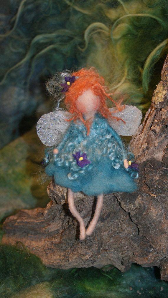 little needle felted Fairy 6 by FairyfeltbySiSo on Etsy