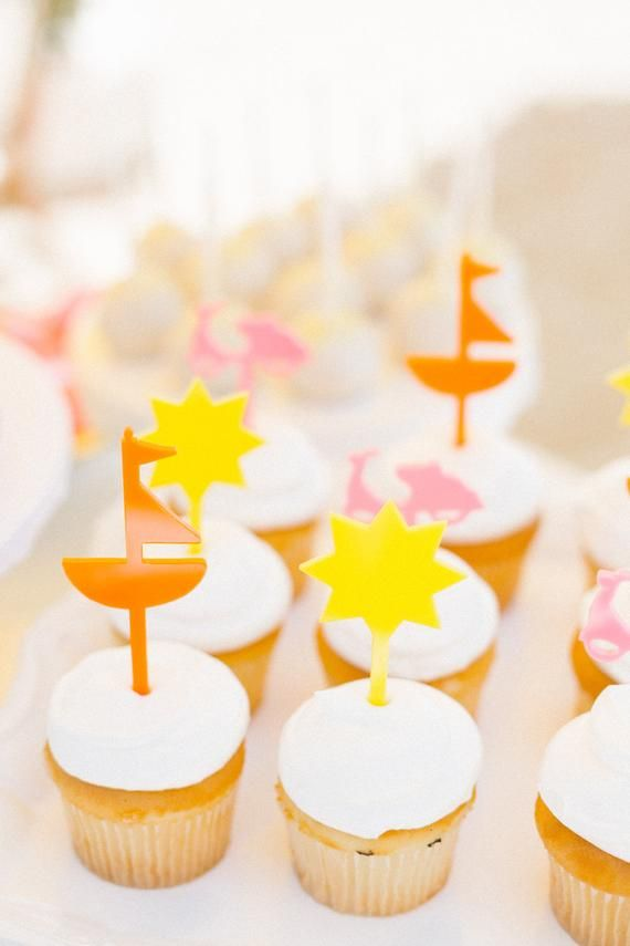 Set Of Beach Day Cupcake Toppers Cupcake Toppers Kids Party