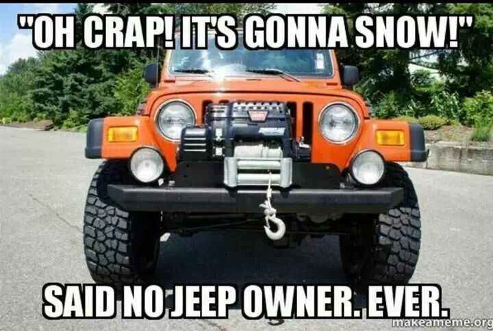 """'Oh Crap! It's gonna show!' said NO JEEP Owner, Ever"" _____________________________ Reposted by Dr. Veronica Lee, DNP (Depew/Buffalo, NY, US)"