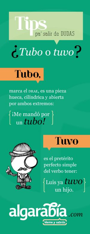 ¿Tubo o tuvo?  #Tip #Lengua #Español