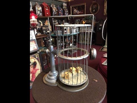 1940's Casino Chuck-A-Luck Dice Cage For Sale $475