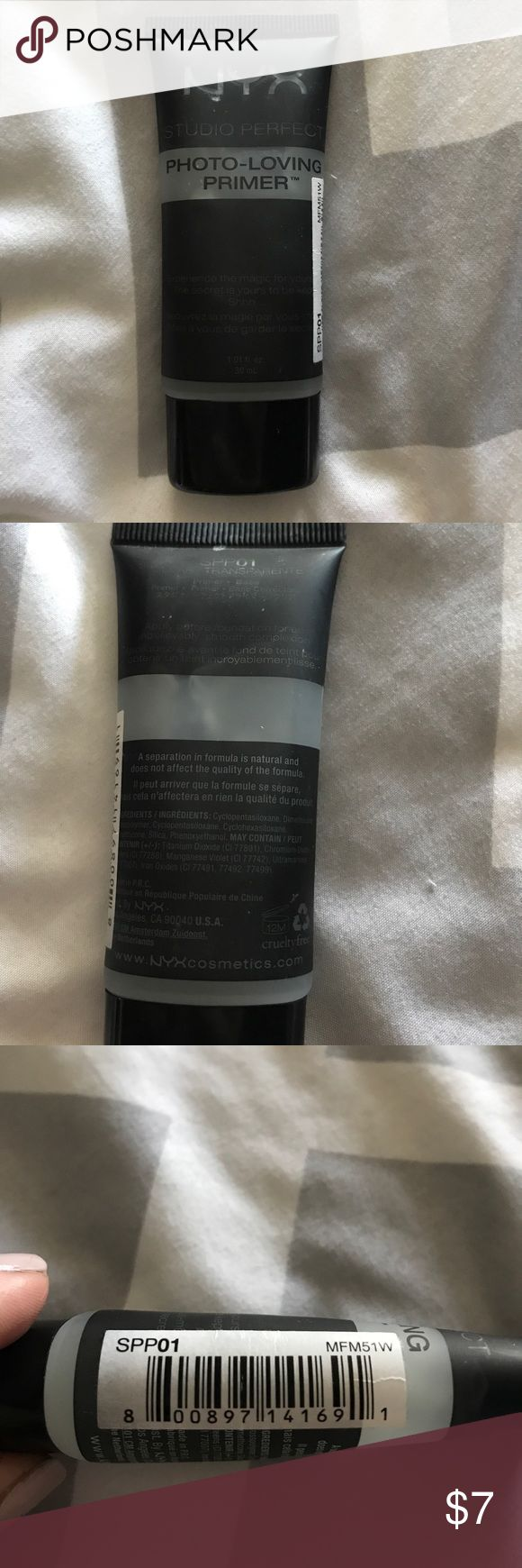 NYX PHOTO LOVING PRIMER NYX PHOTO LOVING PRIMER USED TWICE NYX Makeup Face Primer
