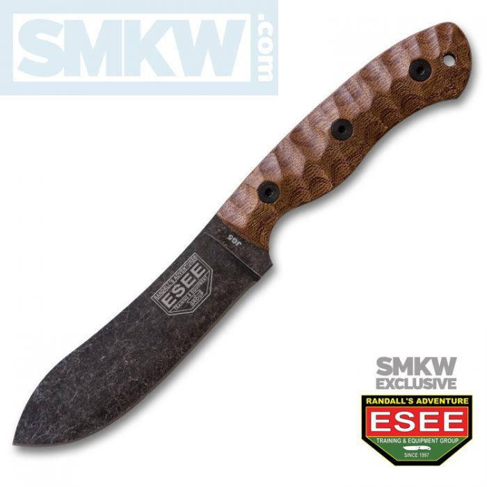 Knives For Sale At Smkw The Smkw Exclusive Esee Jg5 Fixed Blade With Sculpted Brown Micarta Handle And 1095 Carbon Steel W Micarta Micarta Handles Carbon Steel