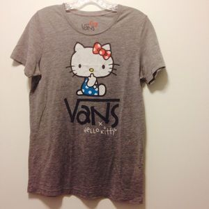 I just added this to my closet on Poshmark: Vans Hello Kitty graphic tee. Price: $5 Size: XL