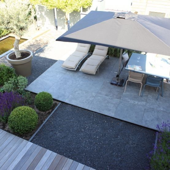 Modern garden, Hard landscaping