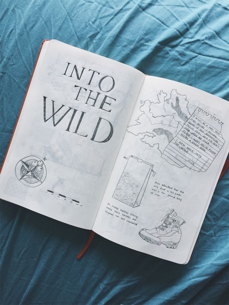 I have started drafting a zine based on Christopher McCandless' story in »Into the Wild« and am so excited about it!
