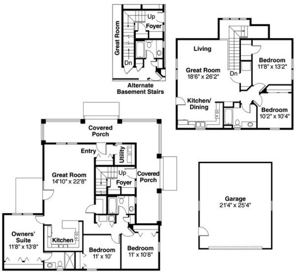 64 best images about mother in law quarters on pinterest for Income suite house plans
