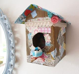 @Nicole Shepard Baudanza this would be so cute in Machaela's room! Cardboard Box Bird House