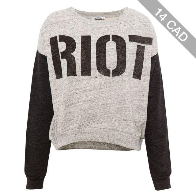 Pull & Bear Print Sweatshirt