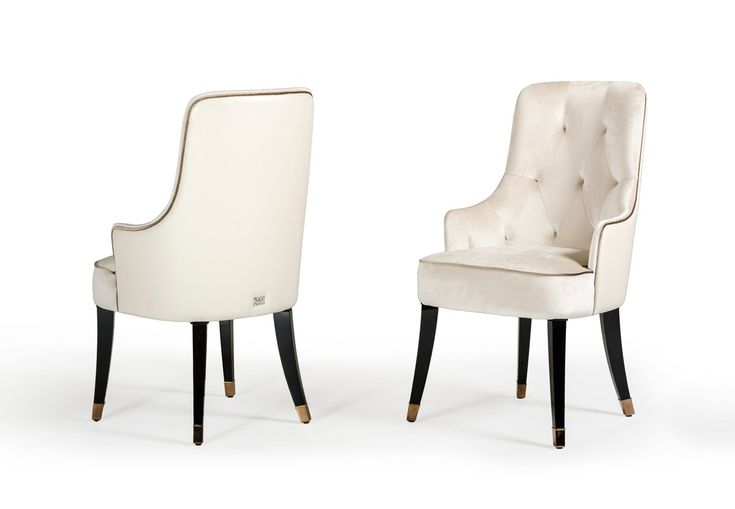 A X Larissa Modern White Fabric Dining, White Contemporary Dining Chairs