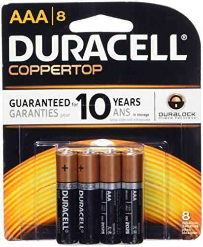 Duracell Coppertop AAA Alkaline Batteries 8 Count